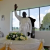 Desteo Bisaka blessing his congregation. Courtesy photo