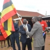 The 2019 Anti-corruption ambassador Robert Omito flagging off the caravan at Action Aid Uganda office in Kansanga. Courtesy photo