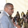 Deceased Med Kaggwa addressing the Police Council yesterday. Courtesy photo