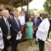 President Museveni chats with Swedish investors at State House Entebbe.PPU Photo