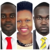 (L-R) Youth MPs Mwine Mpaka, Anna Adeke and Ishma Mafabi. Courtesy photo