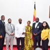 President Museveni with African American investors