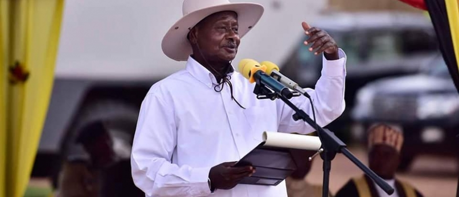 President Museveni at a recent function. File photo