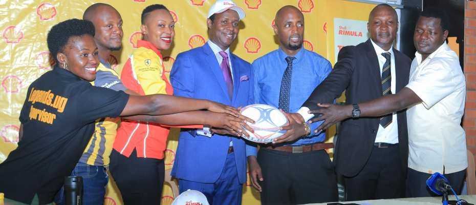 Prince David Wassajja Kintu (in cap) launching the rugby cup. Photo by Thomas Odongo