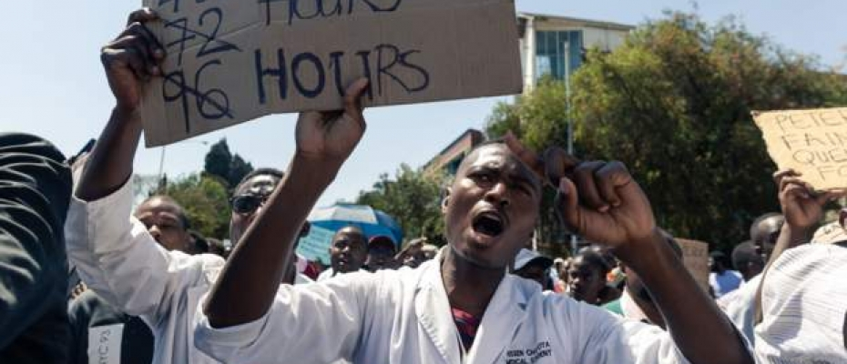 Doctors in Zimbabwe have been on strike since September to demand for higher pay. Courtesy photo