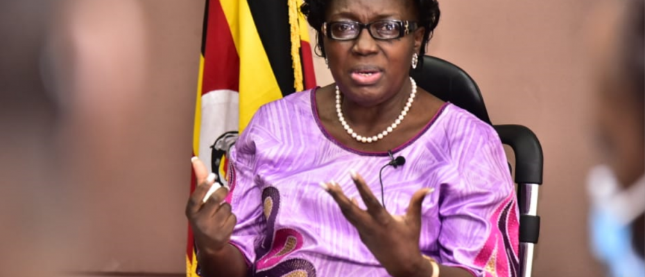 Speaker Kadaga addressing the media